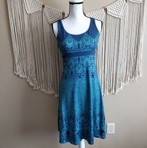 prAna Holly Blue Cutout Active Athletic Dress L